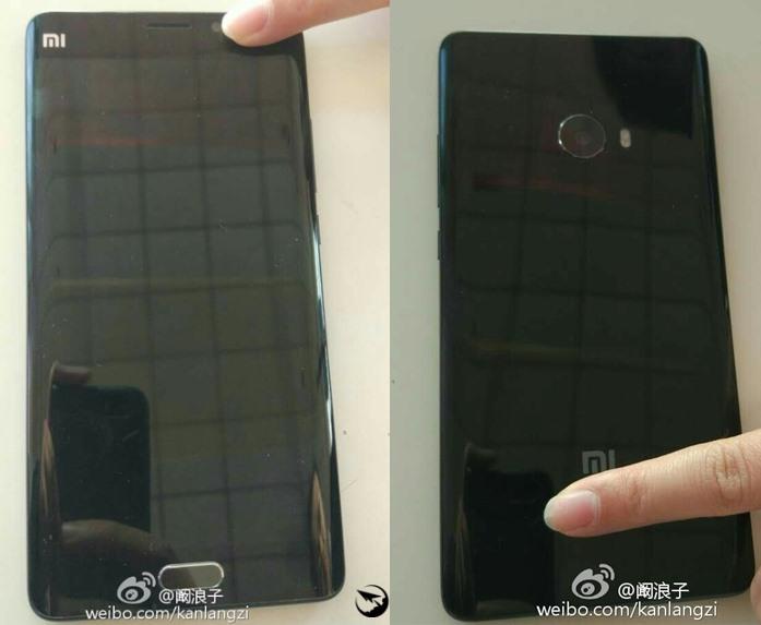 Реальные фото Xiaomi Mi Note 2: изогнутый экран и обычная камера