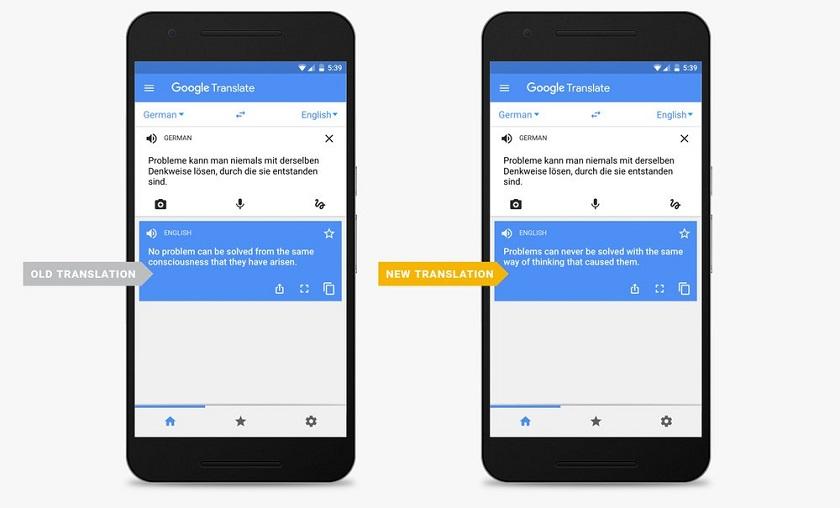 Google Translate научился переводить лучше