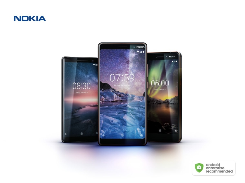 Nokia 8 Sirocco, 7 Plus and 6 have joined the Android Enterprise Recommended program