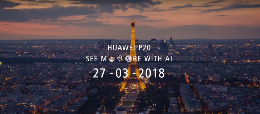 Official renditions of the flagship line of smartphones Huawei P20