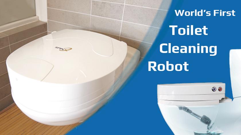 Робот для чистки унитаза представили публике