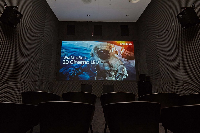 Samsung has released a 3D version of the world's first LED-screen for cinemas