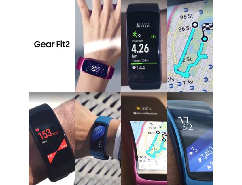 Новые изображения и подробности о фитнес-браслете Samsung Gear Fit 2