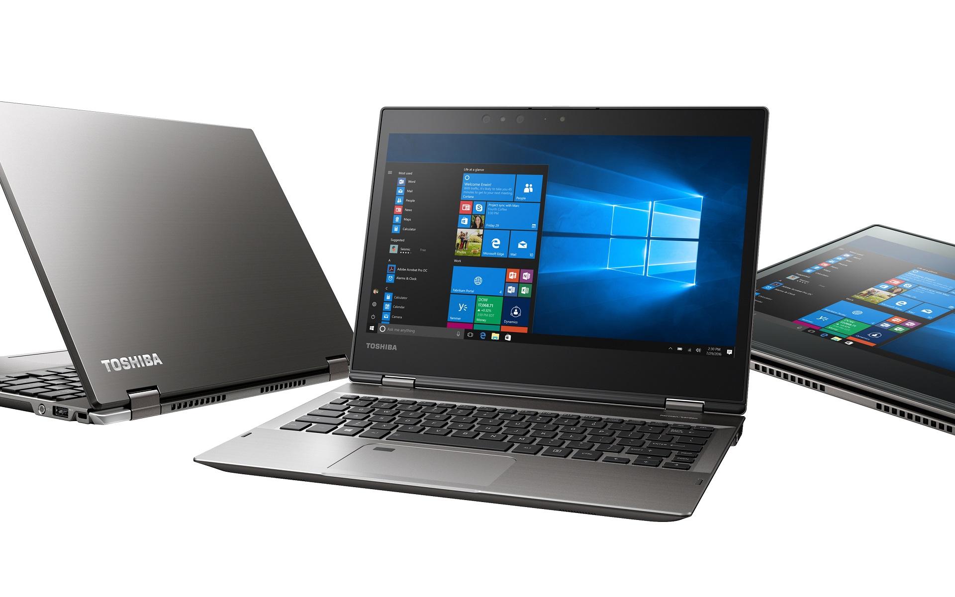 Toshiba представила новый тип ноутбуков Portege под управлением Windows 10 Pro