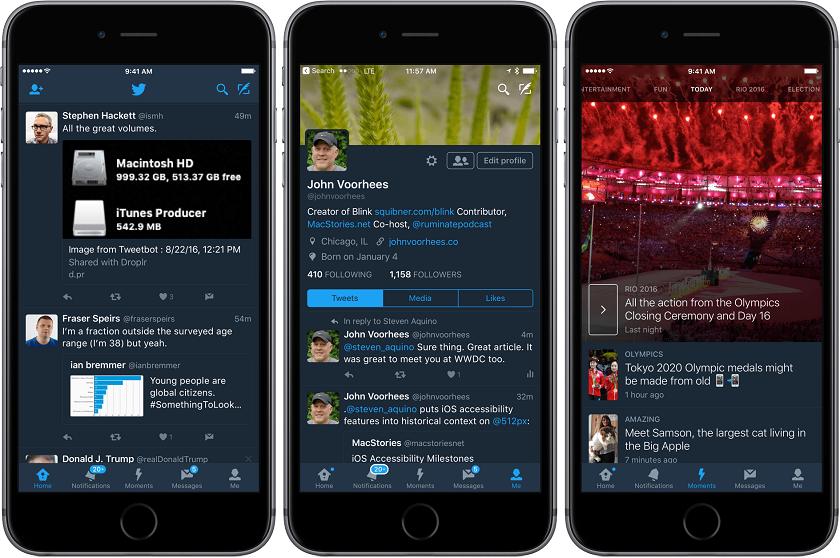 Твиттер для iOS получил функцию «ночной режим»