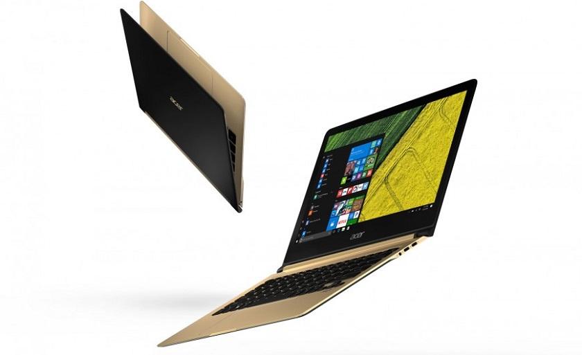 Начались продажи самого тонкого ноутбука в мире Acer Swift 7