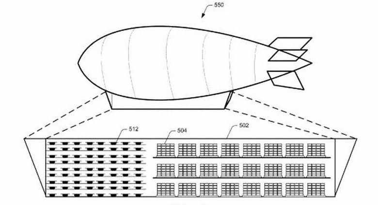 Компания Amazon запатентовала воздушные склады