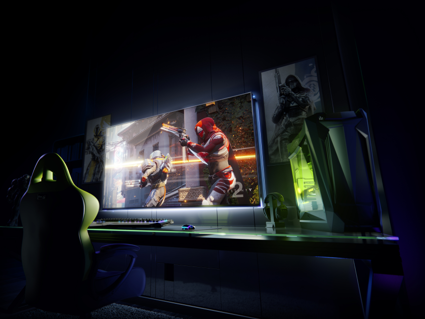 "NVIDIA announced a gaming 4K-screen 65 ""120 Hz with Google Assistant"