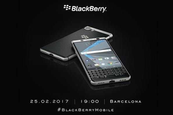 Новый BlackBerry Меркури презентуют еще доначала MWC 2017
