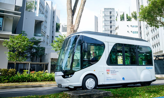 In Singapore, launched an electric bus, which charges only 20 seconds