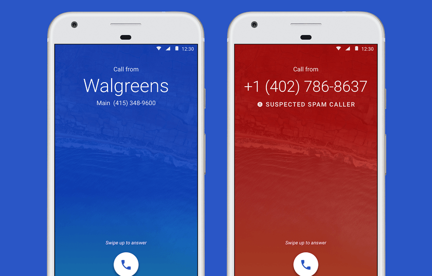 Приложение «Телефон» в андроид отфильтровывает спам-звонки