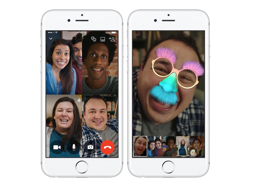 В фейсбук Messenger возникла функция групповых видеозвонков