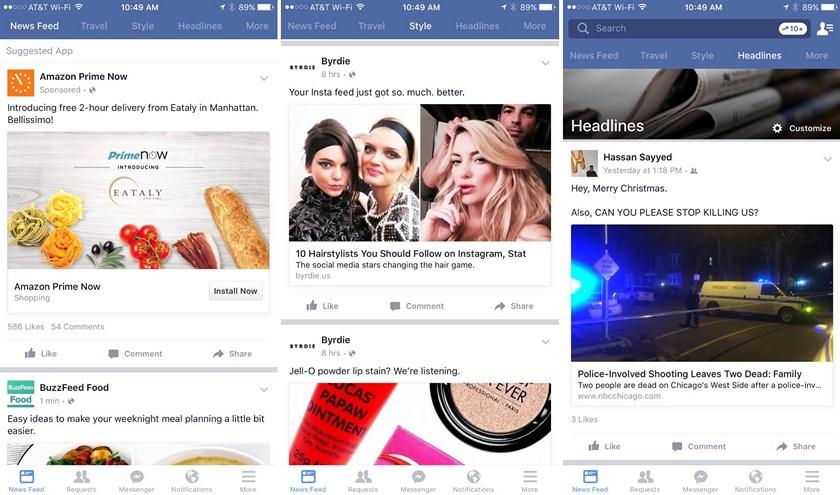 Социальная сеть Facebook начал тестировать «дробление» новостей натемы