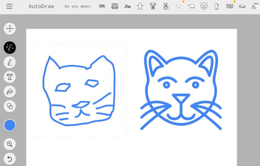Google AutoDraw превращает каракули вкачественные рисунки