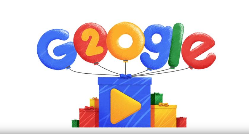Google 20 лет: новый дудл Google отмечает день рождения компании