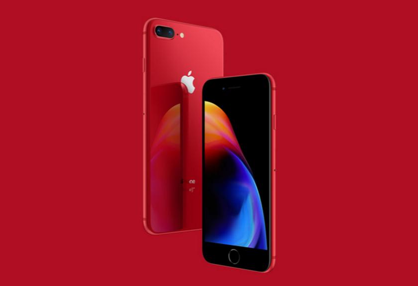 Apple представила iPhone 8 и 8 Plus Product RED Edition