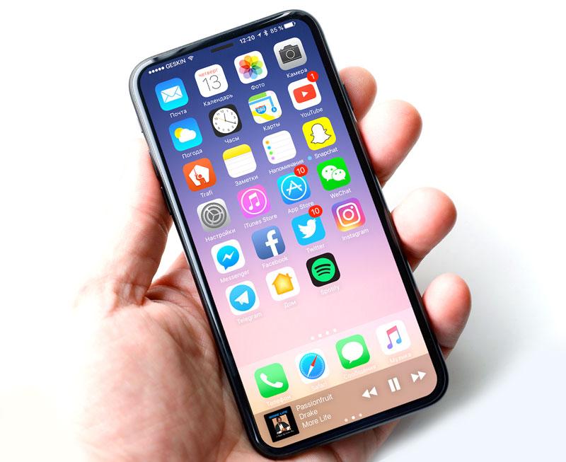 IPhone 8 сумеет  быстро и просто  распознавать своего владельца