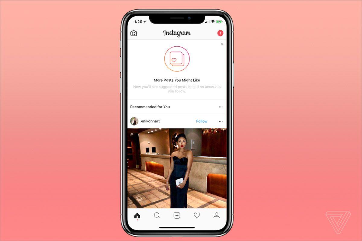 Социальная сеть Instagram начал демонстрировать «рекомендованные» посты восновной ленте