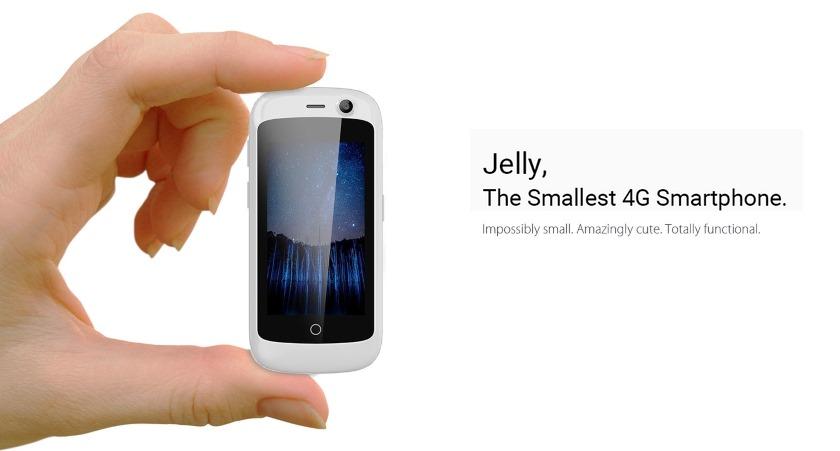 Jelly: самый маленький 4G-смартфон в мире на Android Nougat