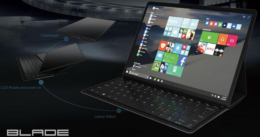Lenovo разработала концептуальный гибридный планшет Blade