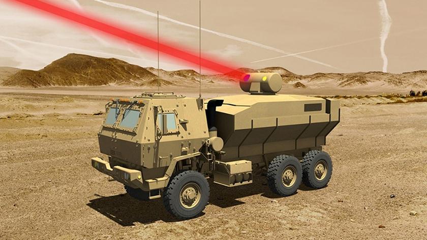 Создан 60-киловаттный боевой лазер, монтируемый на грузовой автомобиль