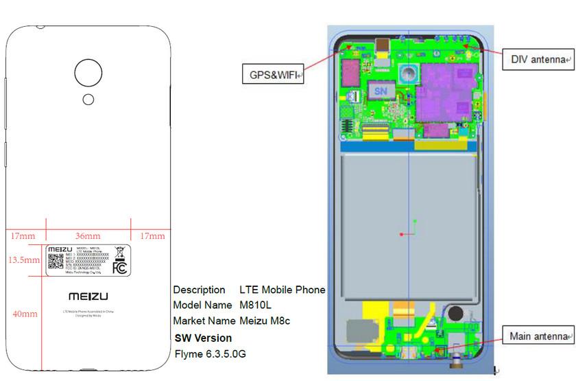 Бюджетный смартфон Meizu M8c прошёл сертификацию FCC