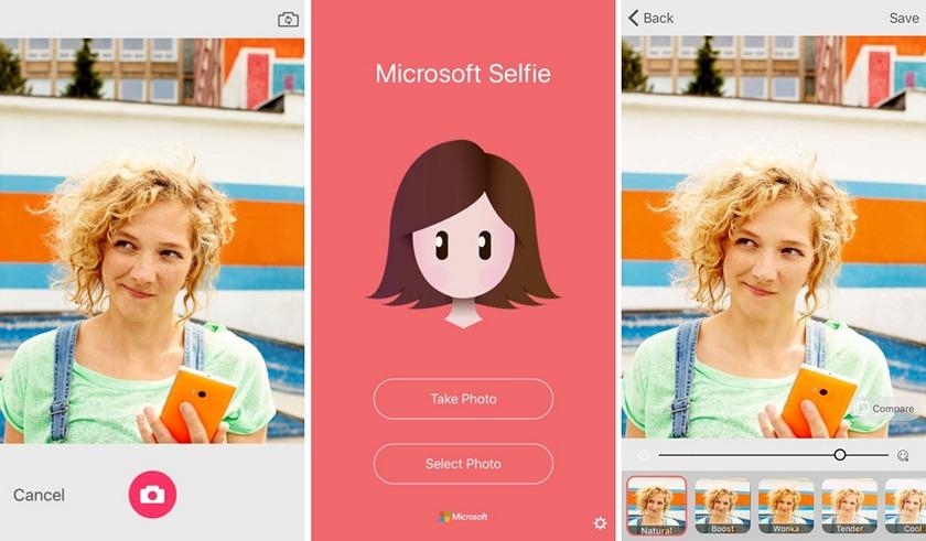 Selfie — новое приложение Microsoft для iOS