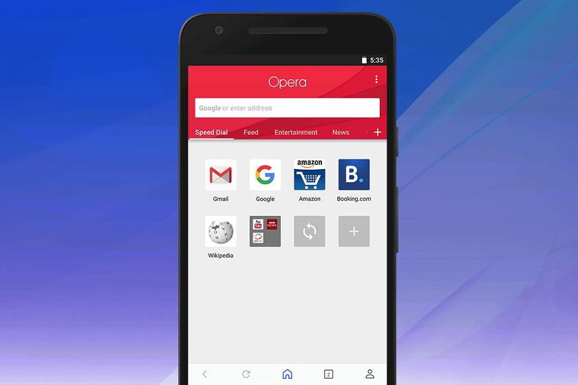 Opera для Android получила новый дизайн