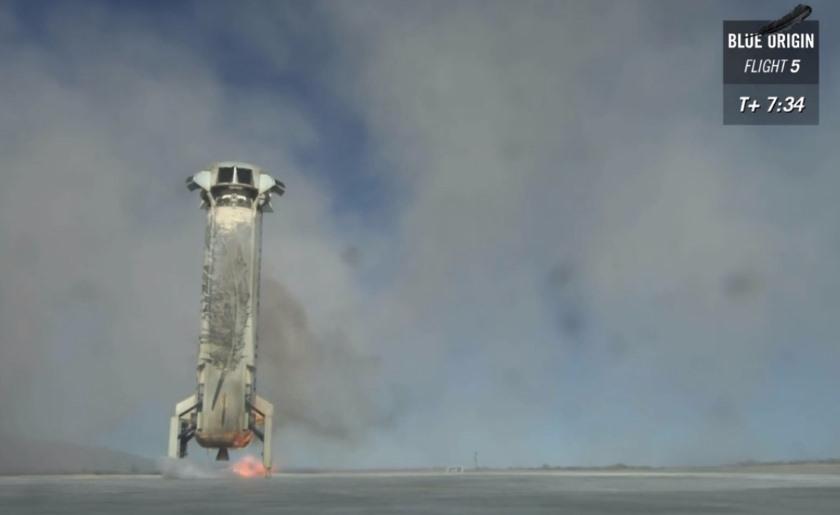 Ракета Blue Origin неожиданно удачно приземлилась после теста системы спасения экипажа