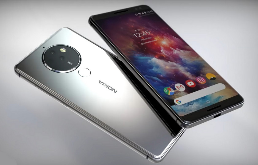 Beautiful Concept Nokia 10 with a revolutionary camera (video)