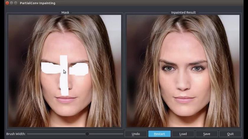 Nvidia показала искусственный интеллект, который восстанавливает поврежденные изображения