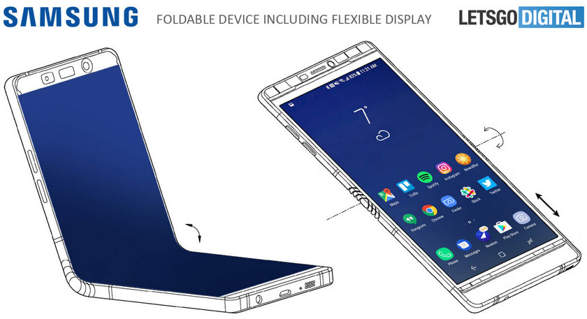 ВСеть попал новый патент гибких ипрозрачных телефонов от Самсунг