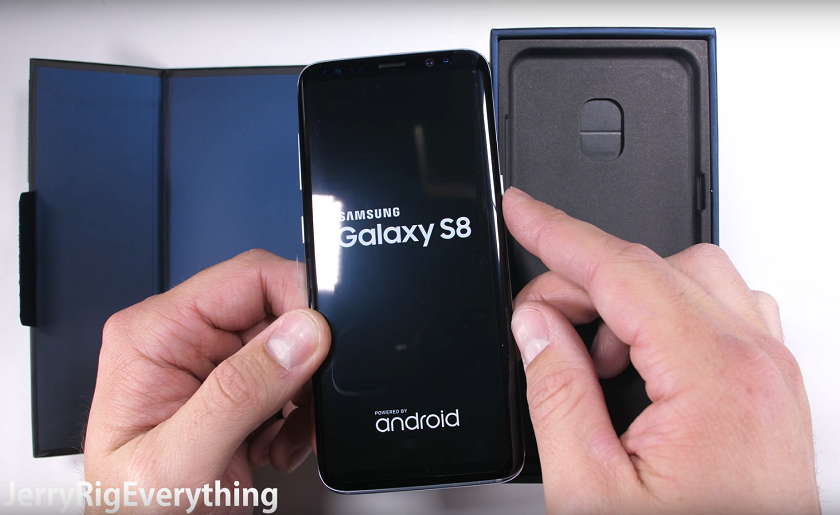 Galaxy S8 испытали напрочность