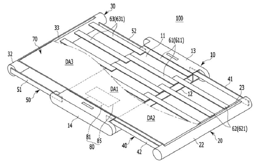 Самсунг получила патент насмартфон срасширяемым дисплеем