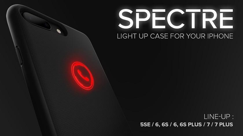 Spectre для iPhone: стильный чехол с уведомлением о пропущенных