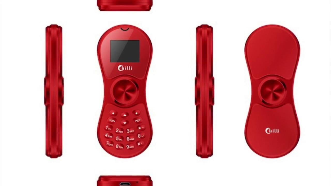 Китайская компания Chilli International выпустила телефон ввиде спиннера