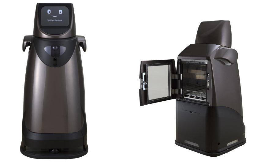 Робот Panasonic HOSPI® развозит еду инапитки