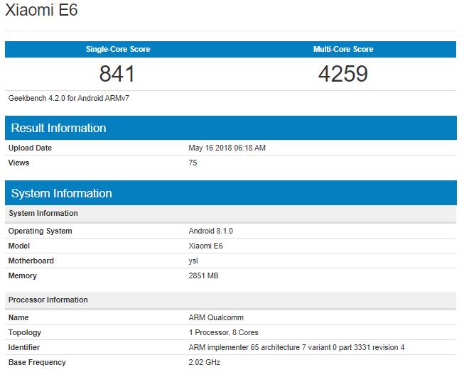 Xiaomi-E6-Geekbench.png