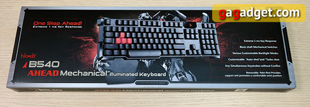 Обзор геймерской клавиатуры A4Tech Bloody B540 с механическими переключателями Greentech-2