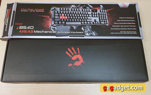 Обзор геймерской клавиатуры A4Tech Bloody B540 с механическими переключателями Greentech-3