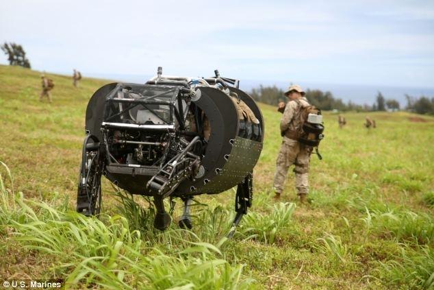 AlphaDog во время полевых испытаний на Гавайях