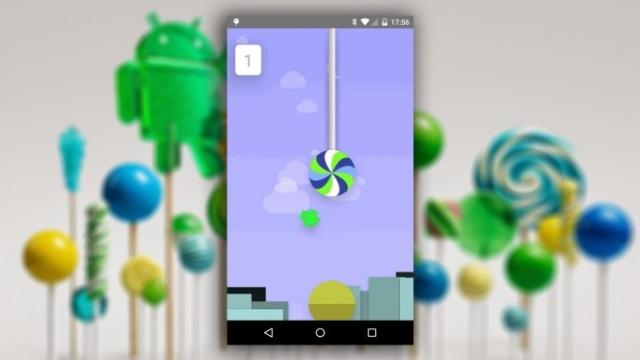 Google запихнула в 5.0 Lollipop пасхалку в виде клона игры Flappy Bird