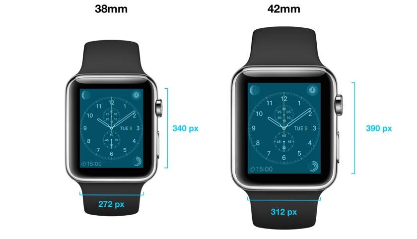 Разрешения экранов и еще некоторые подробности об Apple Watch