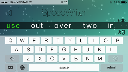 Приложение Дня для iOS: Speed Writer-7