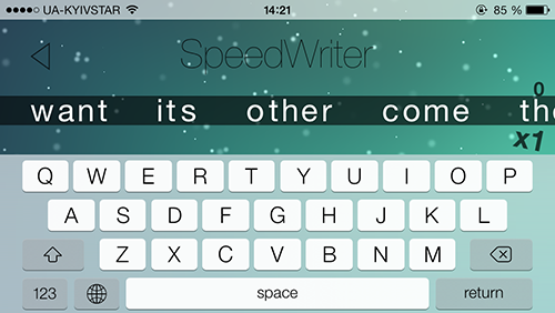 Приложение Дня для iOS: Speed Writer-4