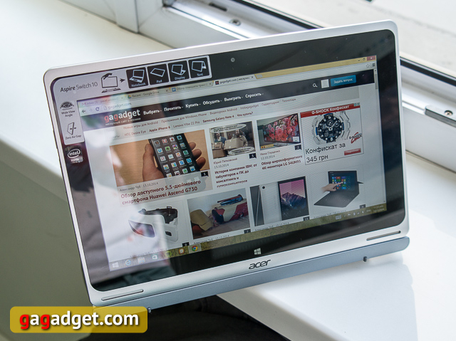 Обзор планшета-трансформера Acer Aspire Switch 10-8