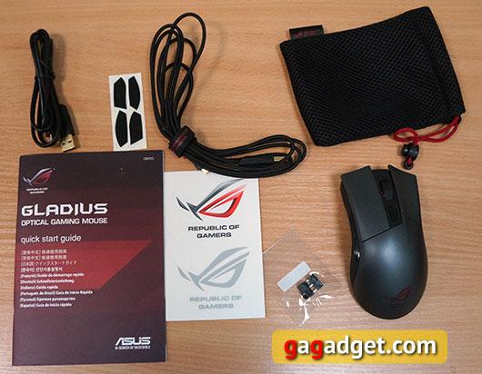 Меч для виртуальных битв: обзор геймерской мышки Asus ROG Gladius-3