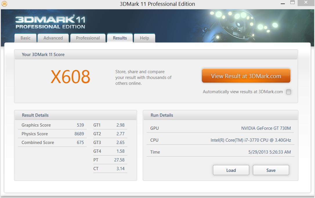 3Dmark 11 Professional Edition