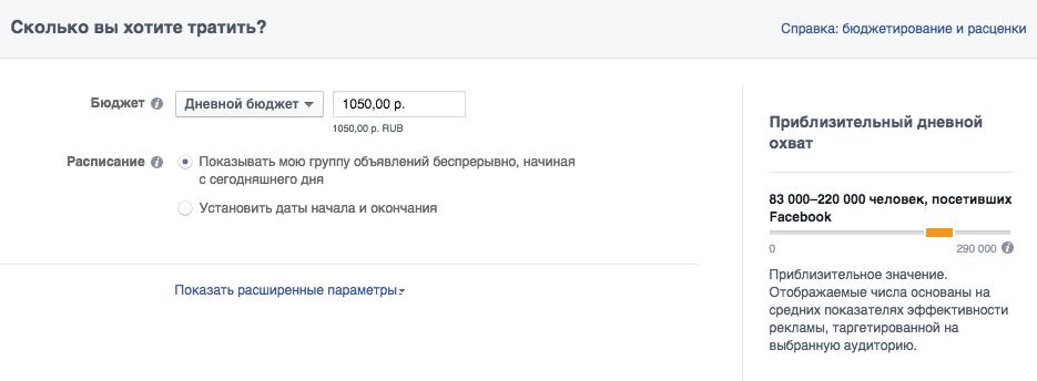 сколько стоит реклама на facebook