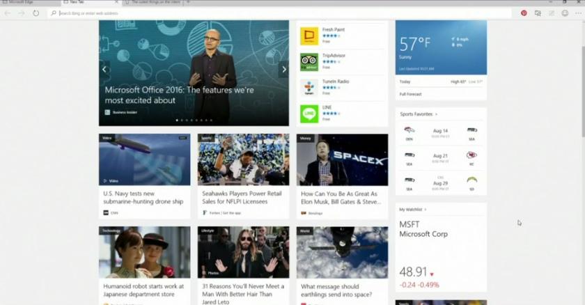 Microsoft Build 2015: новый браузер, перенос Android и iOS приложений и дополненная реальность-3